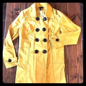 Mustard yellow pea coat